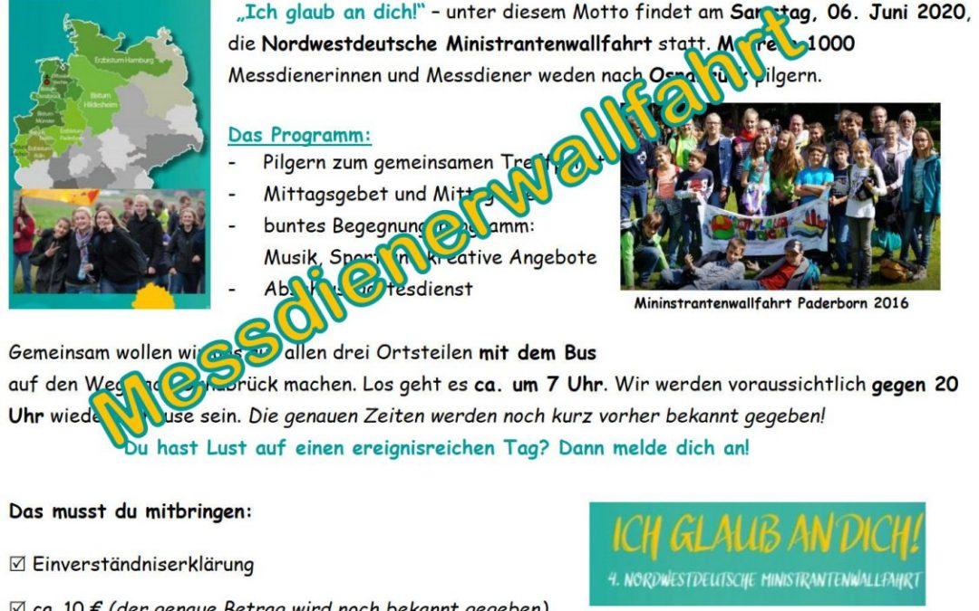 Nordwestdeutsche Ministranten-Wallfahrt nach Osnabrück