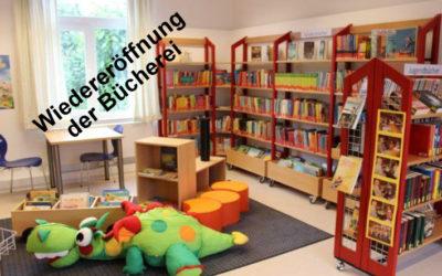 Wiedereröffnung der Bücherei nach Corona-Zwangspause