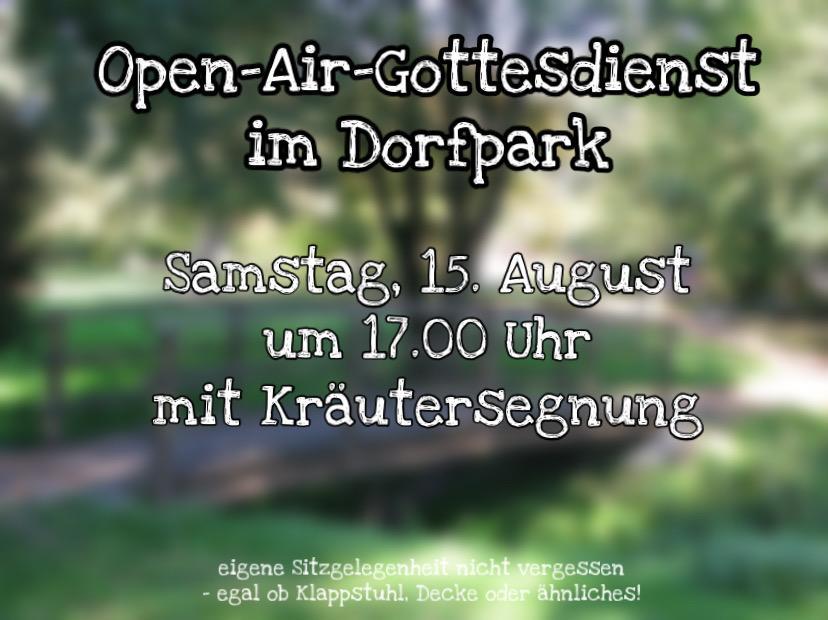 Open-Air-Gottesdienst mit Kräuterweihe